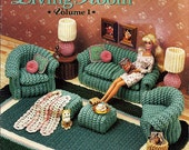 Classic Living Room Volume I  Barbie Crochet Furniture Pattern Annies Attic 525B