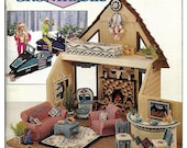 Fashion Doll Condo & Snowmobile /  Barbie Plastic Canvas Pattern / Annies Attic 87R52