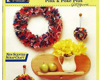 McCall's Creates Pink and Poke Plus New Scented Scrap Craft Wreaths And Scented Balls Item 14127