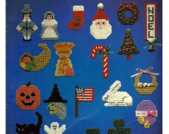 Holiday Magnets for Plastic Canvas Pattern Book Leisure Arts 246