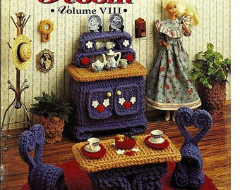 Victorian Fashion Doll Parlor Set Plastic Canvas Pattern