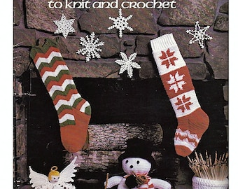 Christmas Designs to Knit and Cochet Pattern Book Leisure Arts 129