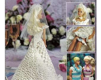 Hawaiian Honeymoon Barbie and Ken Fashion Doll Wardrobe Crochet Doll Pattern 2132 Leisure Arts