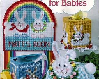 Bunnies for Babies Plastic Canvas Pattern American School of Needlework 3070