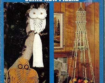 Easily done Macrame Using New Fibers Macrame Pattern Book 30-16441