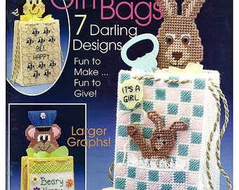 Special Occasion Gift Bags Plastic Canvas Patterns The Needlecraft Shop 843931