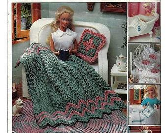 Fashion Doll Home Decor Crochet Pattern Book  Leisure Arts 2449