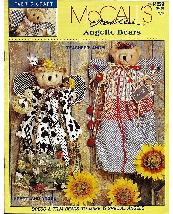 McCall's Creates Angelic Bears by Anne Rader   no. 14229