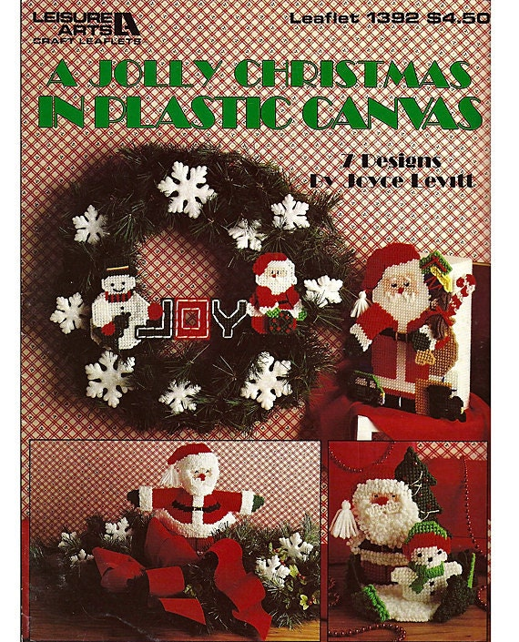 A Jolly Christmas In Plastic Canvas Pattern Leaflet 1392 Leisure Arts