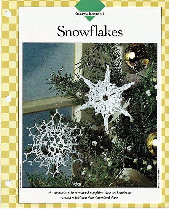 Three Crochet Thread Patterns: Snowflakes, Pristine Angels & Terrific Trims