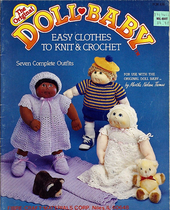The Original Doll Baby Easy clothes to Knit & Crochet Fibre Craft FCM106