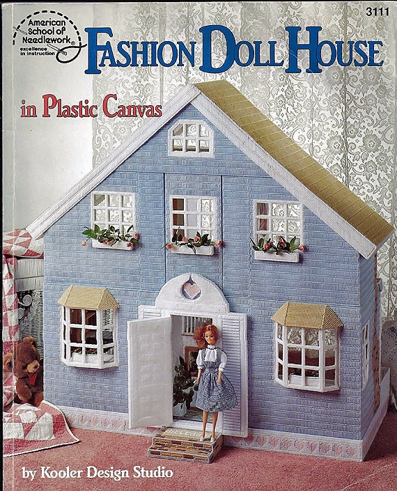 Fashion Doll House In Plastic Canvas Pattern By