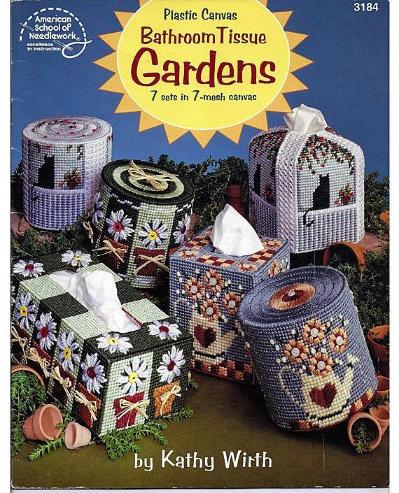 Bathroom Tissue Gardens Plastic Canvas Pattern American School of Needlework 3184