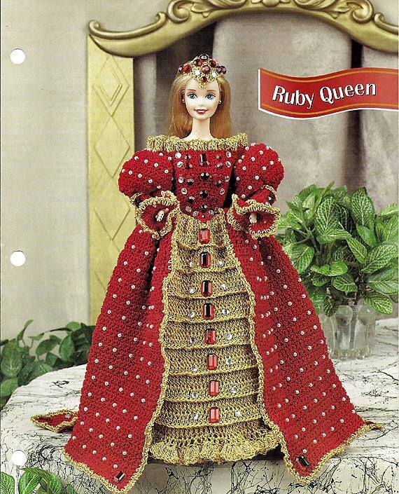 Ruby Queen Crochet Pattern Annies Fashion Doll Crochet Club FC43-02