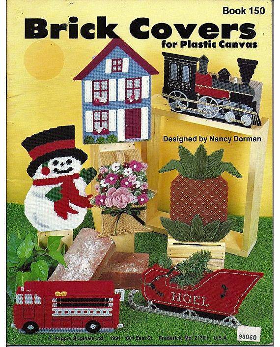 Plastic Canvas Book Cover Patterns ~ Brick covers for plastic canvas pattern kappie originals book