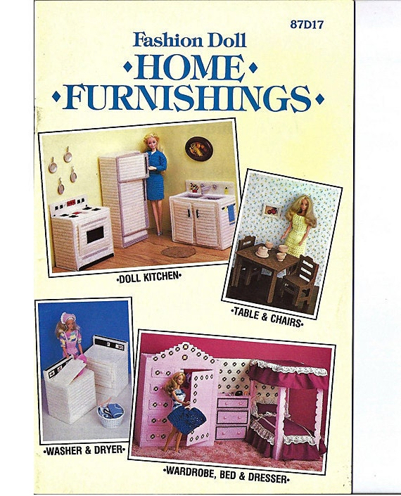 Fashion Doll Home Furnishings Plastic Canvas Furniture Pattern