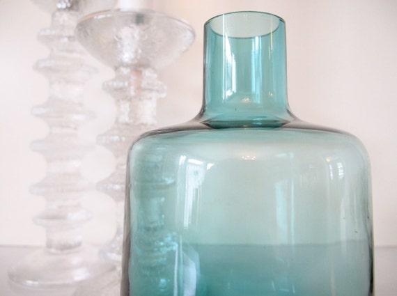 Mid Century Art Glass Vase, Finland