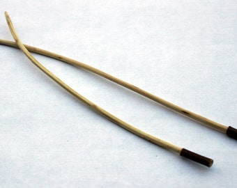 Rustic Oak Knitting Needles - Handmade Eco-Friendly, Yarn Weight Lace to Fine