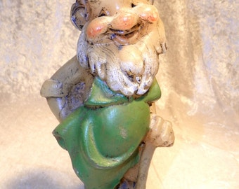 Vintage Candle HIllbilly Gold Miner Character Hand Painted