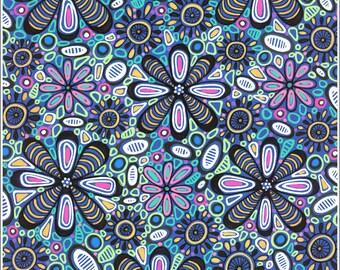 Original art drawing, romantic natural floral stylization, interior decoration - Graphic art drawing XVIII