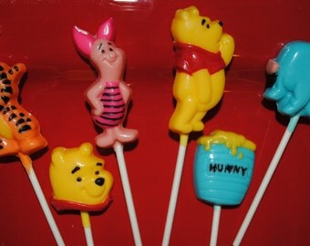 The Pooh Chocolate Lollipops