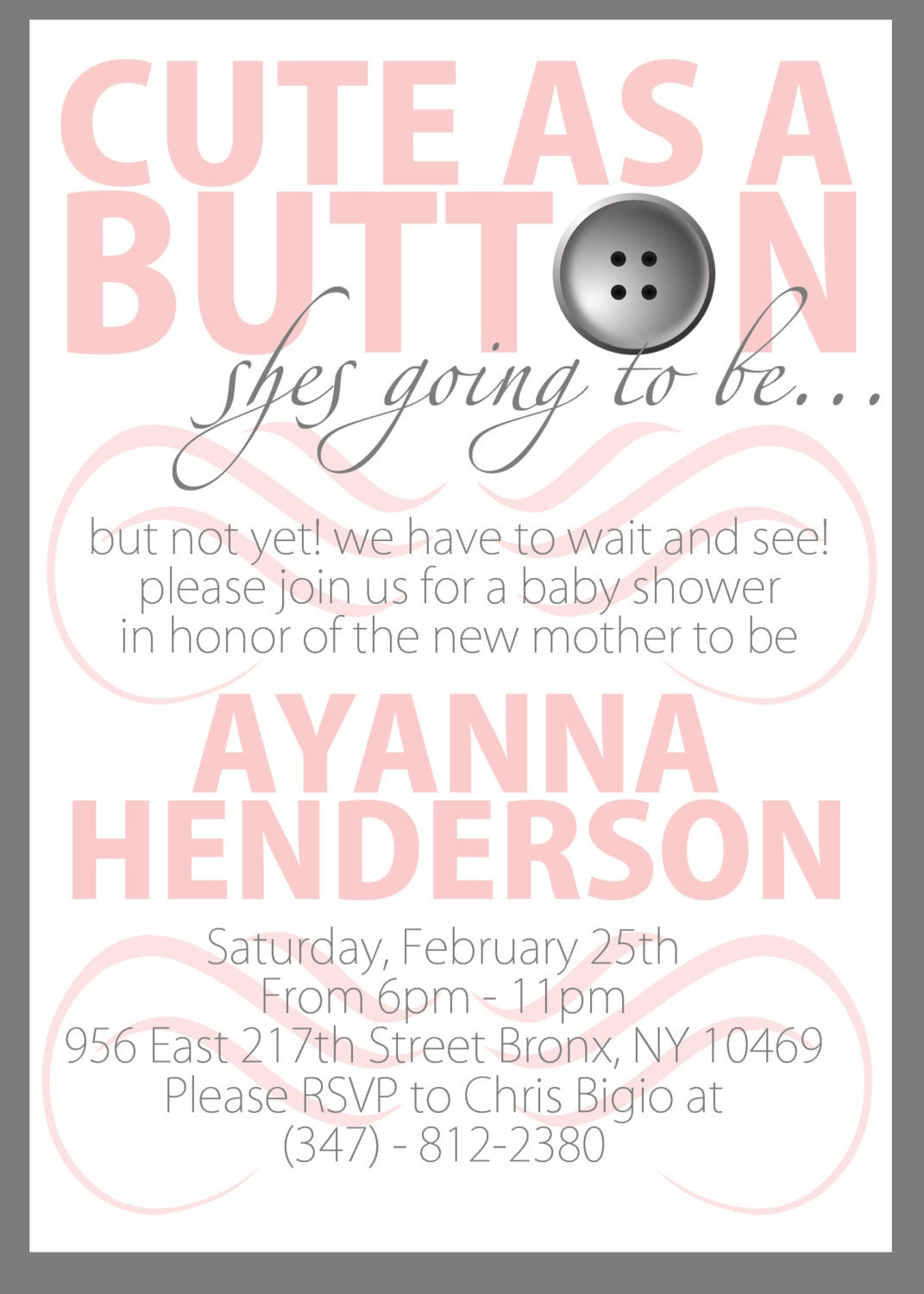 cute as a button printable baby shower invitation by keepittouched
