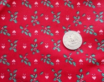 cranston print works christmas print cotton fabric -- 44 wide by 2 2/3 yards