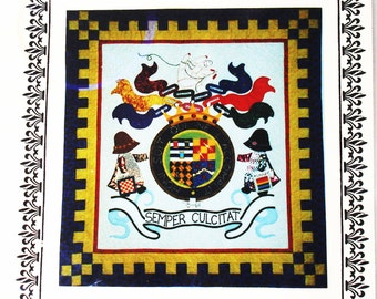 Quiltmaker's Crest pattern,  by Zena Thorpe
