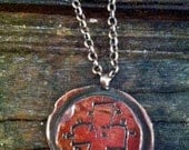 Cross shibuichi necklace