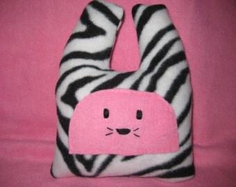 SALE Pink Zebra Bunny -  Baby Shower - Nursery Decor