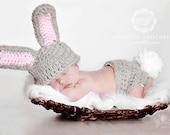 Little Bunny Outfit- DESIGNER HAT - Photo Prop - Newborn