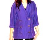 Vintage 1980's Purple Blazer