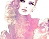 Prestige - Glamorous Watercolor Fashion Illustration Fine Art Print