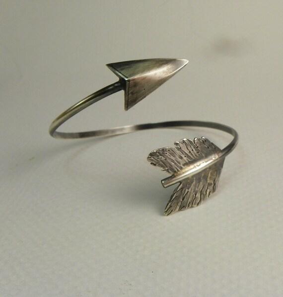 sterling silver arrow cuff bracelet handmade cuff bracelet