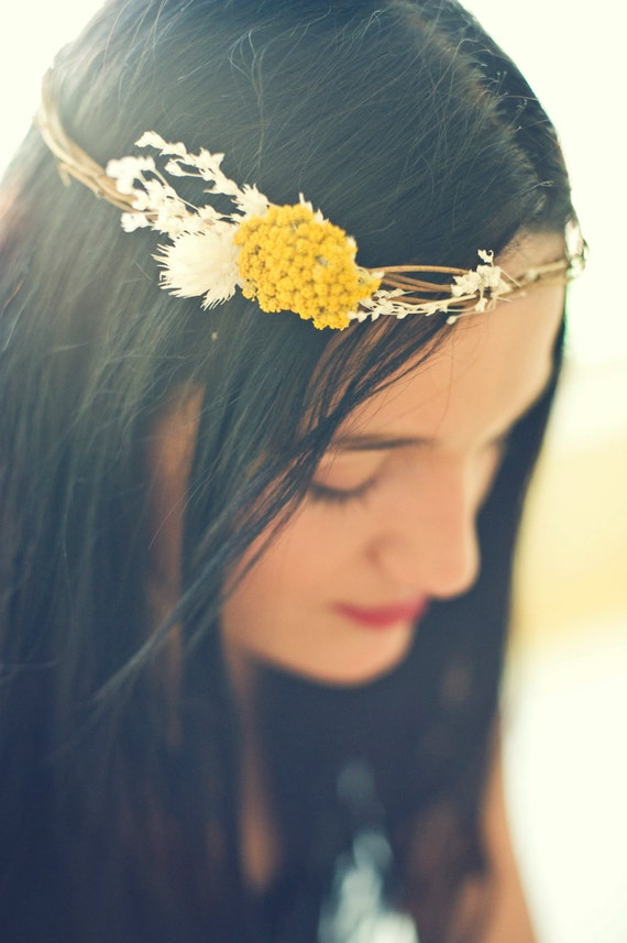 Back In Stock- Fresh Summer Floral Natural Head Crown