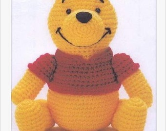 PDF Amigurumi Crochet Pattern -  Winnie the Poon instant download