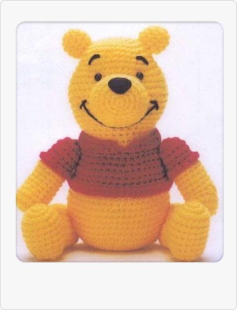Crochet Amigurumi Eeyore : PDF Amigurumi Crochet Pattern Winnie the Poon instant