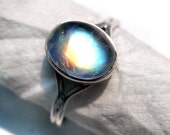Bella Ring from twilight 925 Sterling Silver Rainbow Moonstone Ring size 5 to 10 no. studded Fine gemstone moonstone Cabochon girl ring gift