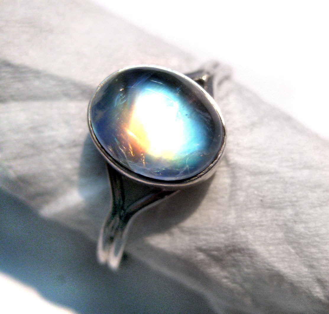 bella ring from twilight sterling moonstone wedding band zoom