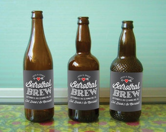 Custom beer bottle labels for weddings and other special events