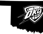OKC Thunder (Oklahoma Pride)  --Vinyl Decal--