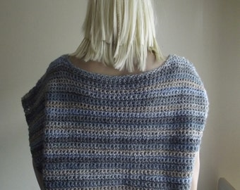 Wanna Lost In - Crochet Vest / Large Crochet Vest / Soft Crochet Vest / Buckles / Wide Vest / Sleeveless Vest / U Neck / Custom Order