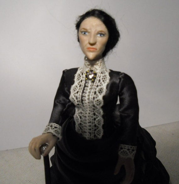 Dollhouse Doll, 12th Scale Victorian Lady. Made by Linda Elgenes by Snowflake Miniatures