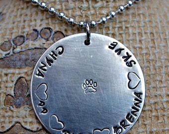 Simple Handstamped Personalized Brag Necklace