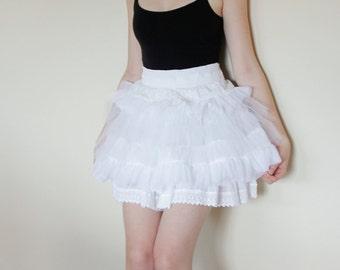 White Tutu - Full Lolita Petticoat from Soft Lace - White Lace Petticoat - Eco Fashion Tutu