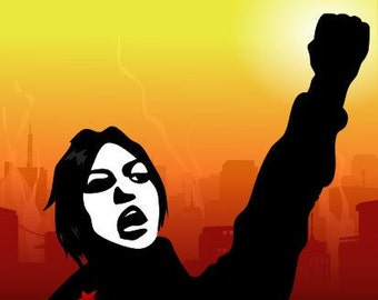 SALE!!! Poster Radical Feminist Militant  A3 political
