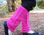 Girl's Crocheted 80's Style Legwarmers (pick your color), handmade, ballet, jazz, Custom, Made to Order