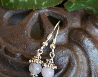 Fertility Earrings,  and Fertility Blessing, in Rose Quartz