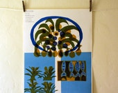 Caribbean Sea - part of the Sea and Ocean Series, Vintage 1963 poster by Osborn Woods