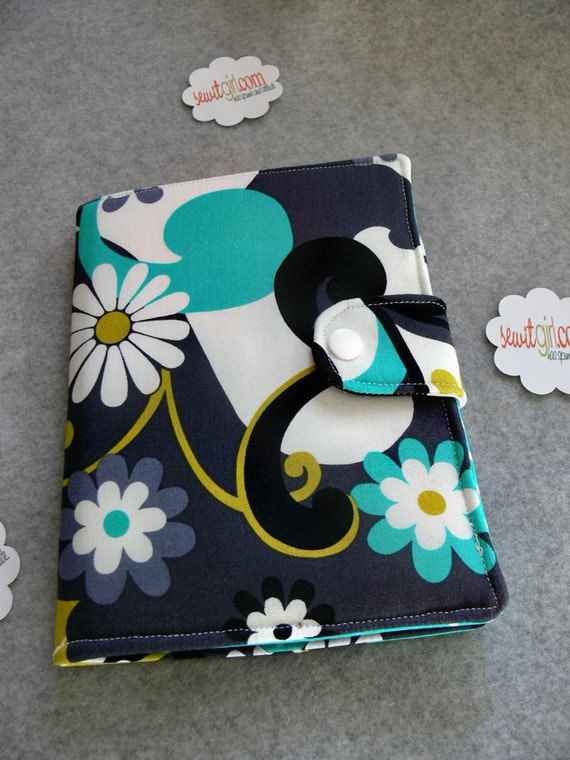 Kindle Cover, Kindle Touch cover, Kindle Paperwhite cover, eReader Cover Book Style, Daisy Doodle Dandy, Custom order Last one